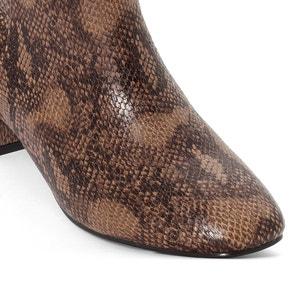 Wide-Fit Snakeskin Heeled Boots, 38-45 CASTALUNA
