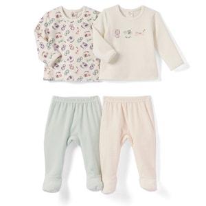 Lote de 2 pijamas 2 prendas de terciopelo 0 meses - 3 años La Redoute Collections