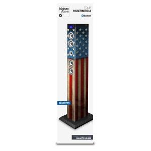 Tour multimédia  motif  drapeau USA Bluetooth  USB carte SD MMC MP3 BIG BEN