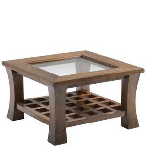 Table basse vitrée 60x60cm MAORI PIER IMPORT