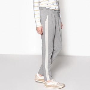 Sweatshirt Fabric Peg Trousers, Length 29.5
