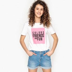 T-shirt oversize estampada, 10-16 anos La Redoute Collections