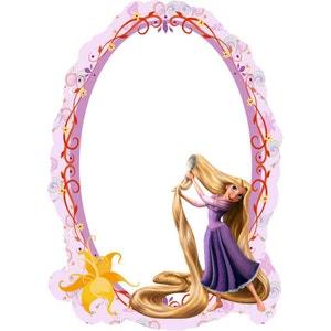 Miroir Princesse Raiponce Disney WALLTASTIC