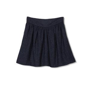 Korte mêlee rok met elastische taille ESPRIT