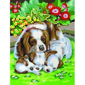 Peinture par n° débutant duo - Lot de 2 chiens - OZIPBNJ41024 OZ INTERNATIONAL