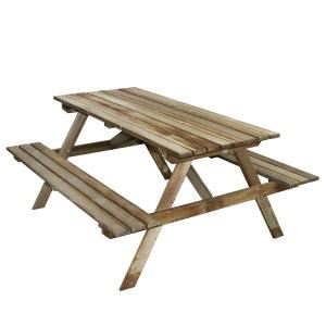 Table pique-nique en bois 4 places Marly CEMONJARDIN