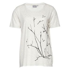 T-shirt de mangas curtas, estampado ramo B.YOUNG