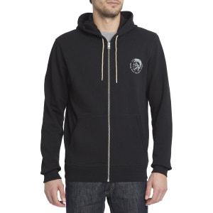Sweat Shirt Zippé Capuche Logo Tete Indien Brandon Z Noir pour homme DIESEL