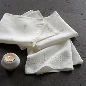 Serviette de table lin lavé brodé, Vanani (lot de AM.PM