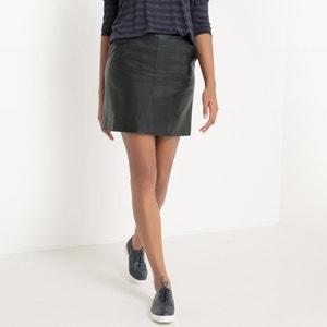 Falda con corte trapecio de piel sintética SUD EXPRESS