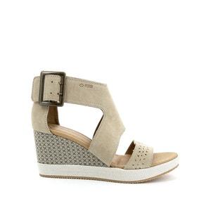 Wit Sud Leather Wedge Sandals P-L-D-M-BY PALLADIUM
