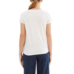 Camiseta estampada, cuello redondo ESPRIT