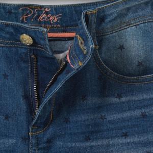 Printed Denim Skinny Jeans, 10 - 16 Years R pop