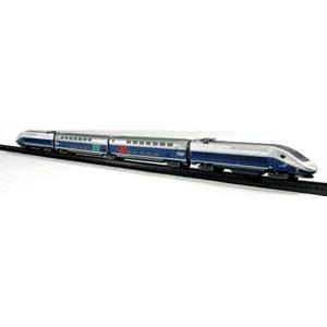 CIRCUIT TGV 2 LOCOMOTIVES ET 2WAGONS NEW RAY