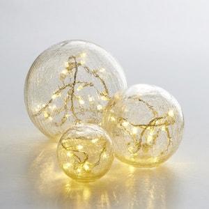 Bolas de cristal agrietado Eudia, lote de 3 La Redoute Interieurs