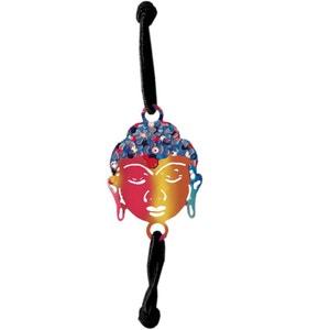 Bracelet élastique fantaisie pour femme noir - Bouddha CBK