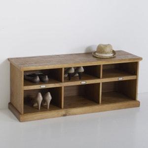 meuble banc dentre en pin lindley la redoute interieurs - Meuble D Entree Avec Banc