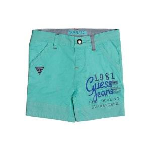 Short En Coton Imprime Frontal GUESS KIDS