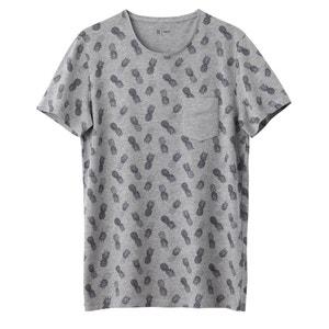 T-shirt de gola redonda, estampada La Redoute Collections