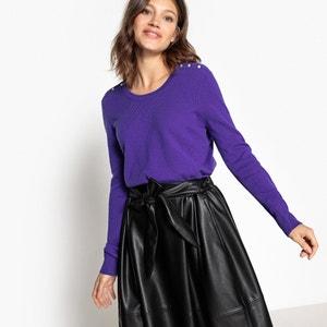 Sweter 100% kaszmir, z wycięciem z tyłu MADEMOISELLE R