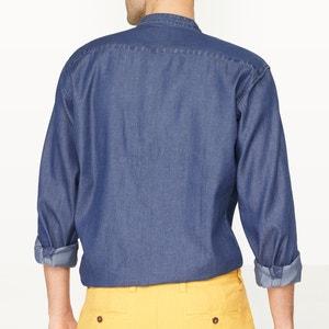 Camicia in denim taglio dritto collo alla coreana La Redoute Collections