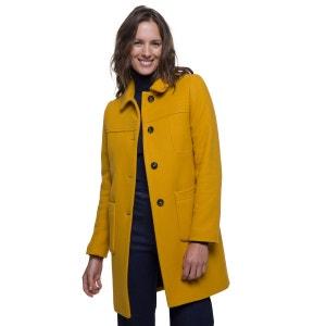 Manteau mi-long en laine vierge TRENCH AND COAT