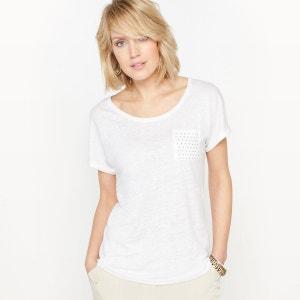 T-shirt col rond, pur lin ANNE WEYBURN