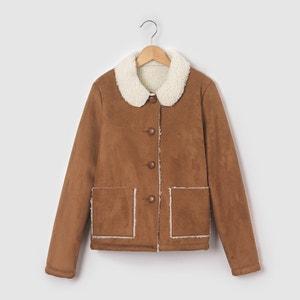 Faux Sheepskin Coat, 10-16 Years La Redoute Collections