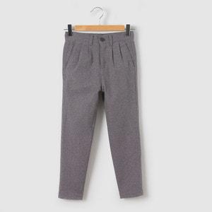 Flanelowe spodnie typu chino 3-12 lat La Redoute Collections
