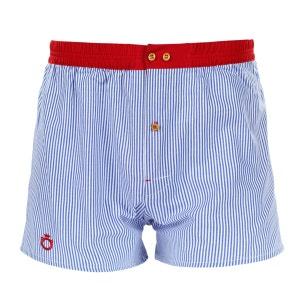 Caleçon Wrap à rayures bleues et ceinture rouge DAGOBEAR