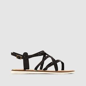 Sandały z paskami, na płaskim obcasie MISTI COOLWAY