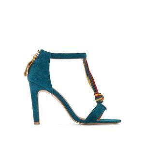 Sandalen in leer met gestrikt bandje La Redoute Collections