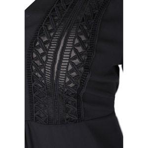 Effen blouse met ronde hals en lange mouwen MAT FASHION