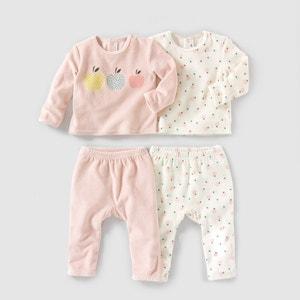2-delige pyjama in fluweel 0 mnd - 3 jr (set van 2) R mini