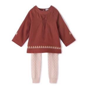 Conjunto túnica e leggings, 0 mês - 3 anos La Redoute Collections