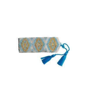 Bracelet Java Argent, Turquoise et Or AMADORIA