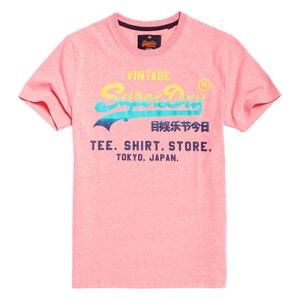 T-shirt col rond, motif devant SUPERDRY