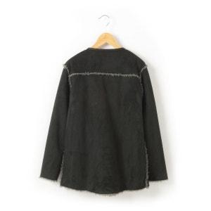 Abrigo con aspecto de piel de borreguillo reversible R teens