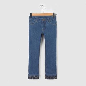 Pantaloni slim con risvolti 3-12 anni La Redoute Collections