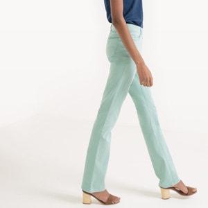 Pantalon droit, 5 poches, coton stretch R essentiel