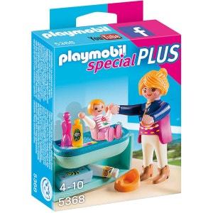 Playmobil 5368 : Spécial Plus : Maman avec bébé et table à langer PLAYMOBIL