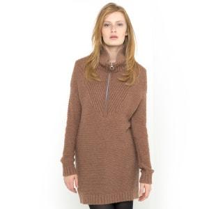 Zipped Neck Sweater SOFT GREY