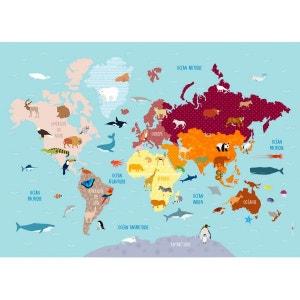 Poster Géant plastifié : Carte du monde  en : DECOLOOPIO