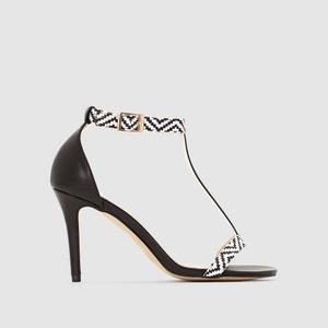 Sandálias, tacão alto, presilha no tornozelo La Redoute Collections