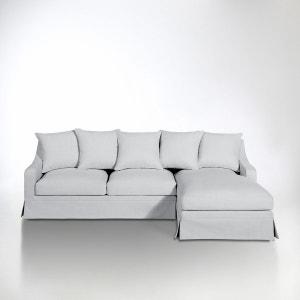 Canapé d'angle coton/lin, convertible, confort sup La Redoute Interieurs