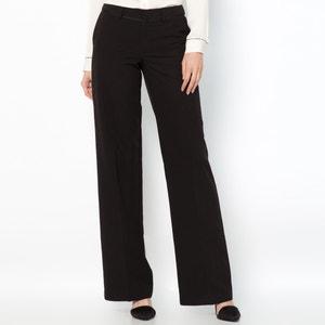 Spodnie z serży ze streczem, wewn. długość nogawki 82 cm La Redoute Collections