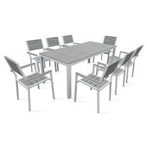 Table de jardin 8 places aluminium et polywood BOUTIQUE-JARDIN