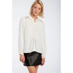 Pullover aus flauschgarn, hinten offen schwarz Naf Naf | La