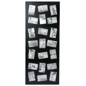 Cadre photos pêle mêle géant design - 21 encarts - Noir ATMOSPHERA