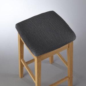 Housse extensible pour tabouret gaufrée, AHMIS La Redoute Interieurs